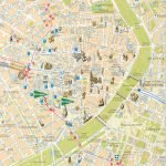 Карта центральной части Мадрида