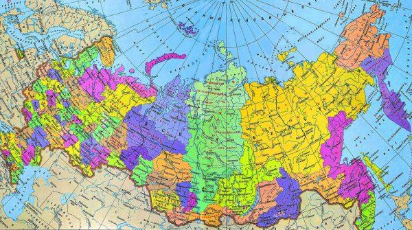 Карта Российской Федерации с границами
