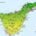 Туристическая карта острова Тенерифе