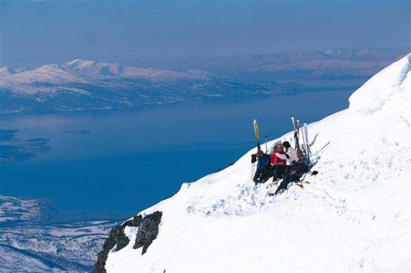 Катание на горных лыжах в Нарвике