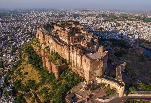 Крепость Мехрангарх в городе Джодхпур