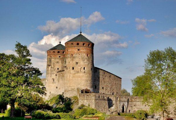 Крепость Олафсборг в Финляндии