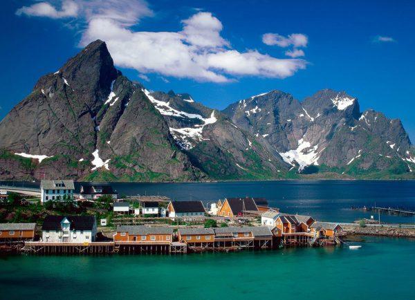 Прибрежный город Норвегии