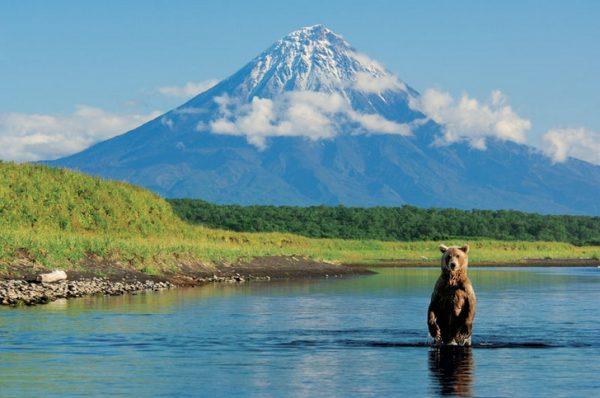 Один из вулканов Камчатки