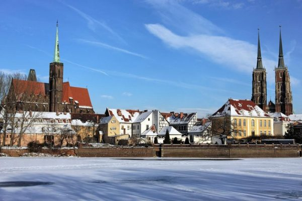 Окрестности Варшавы зимой