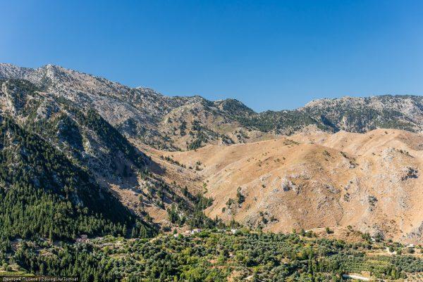 Гора Омалос и её окрестности