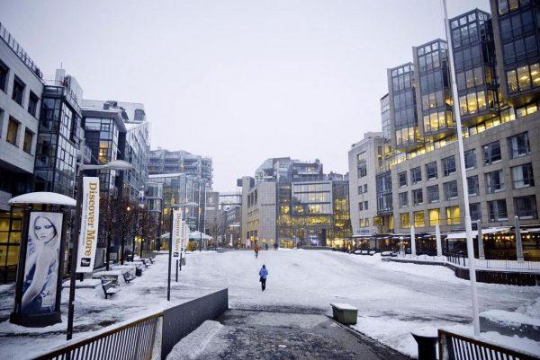 Осло в зимнее время года