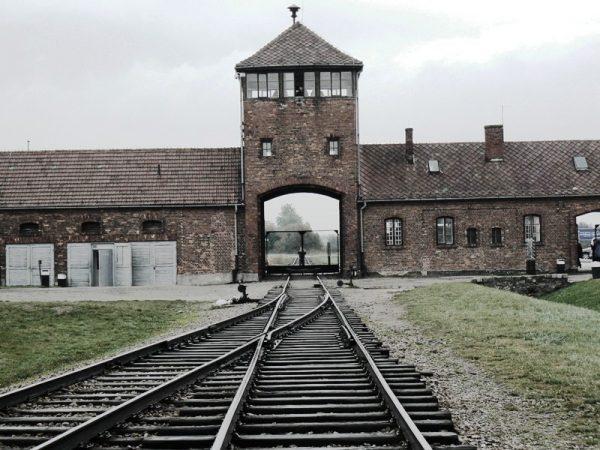 Железнодорожные пути на территорию лагеря Освенцим