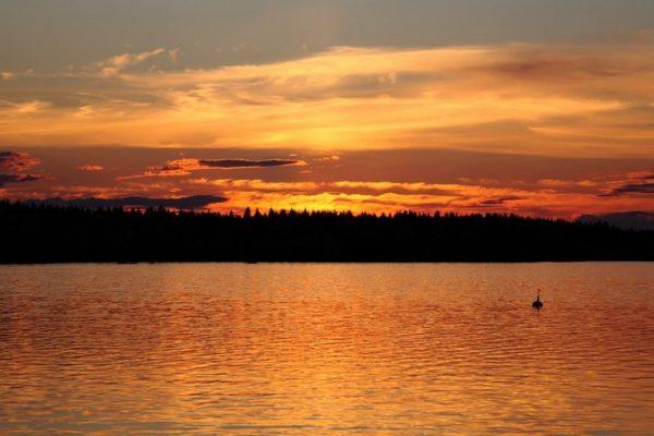 Озеро Оулуярви в центральной части Финляндии