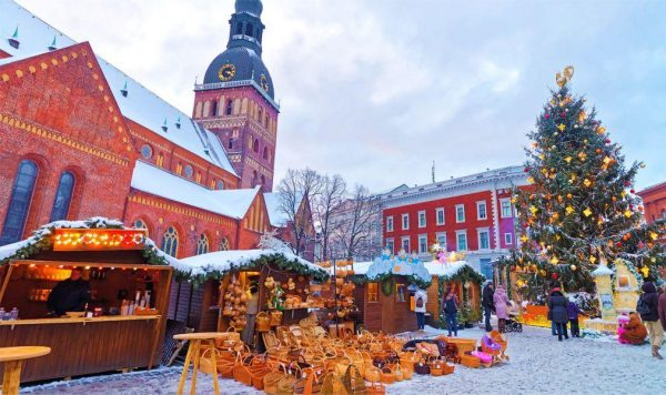 Рождественский рынок в Риге