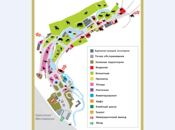Схема ереванского зоопарка