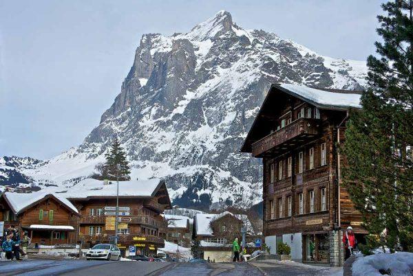 Горный пейзаж в Швейцарии