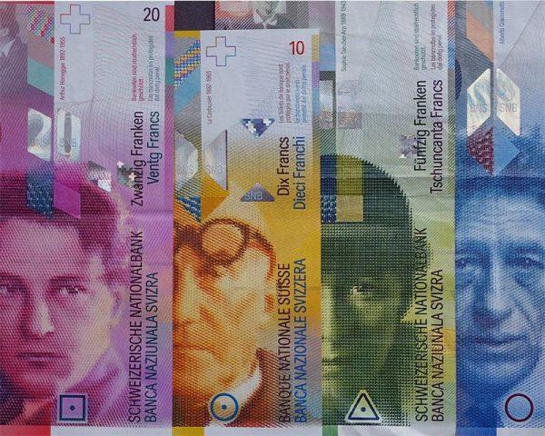 Банкноты швейцарских франков