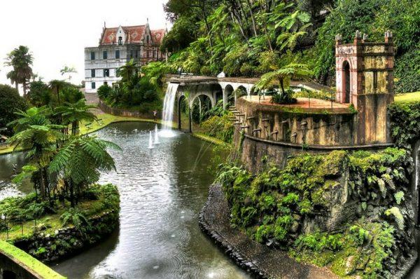 Тропический сад вокруг замка Монте