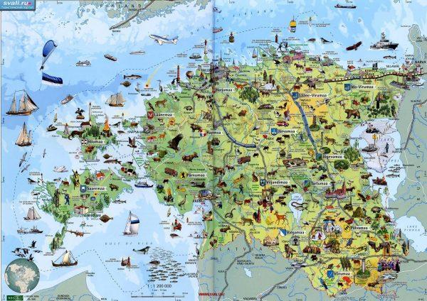 Туристическая карта Эстонии