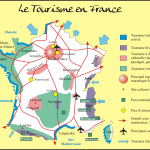 Туристическая карта Франции