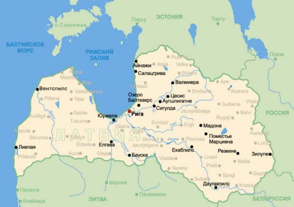 Туристические мета Латвии