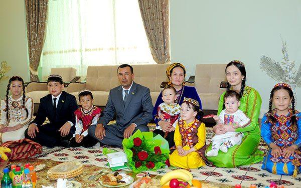 Туркменская семья