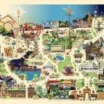 Карта парка развлечений Тиволи