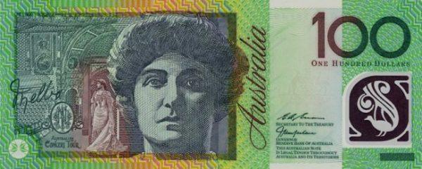 Вариант купюры в австралийских долларах