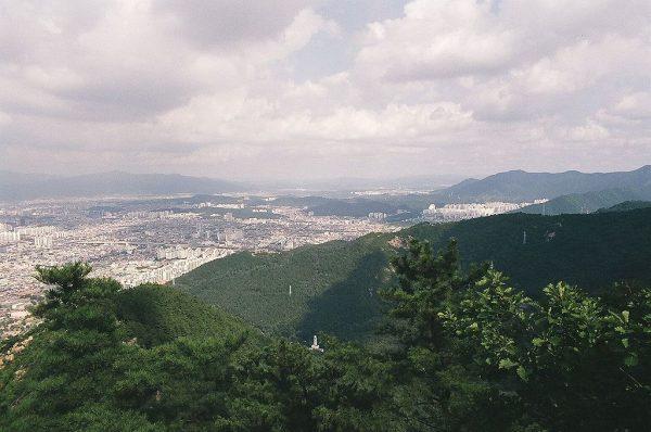 Вид на юго-западную часть Тэгу