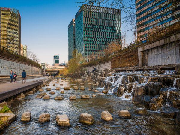 Один из городов Южной Кореи