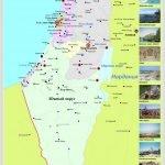Туристическая карта Израиля