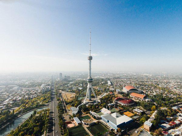 Вид сверху на Ташкент