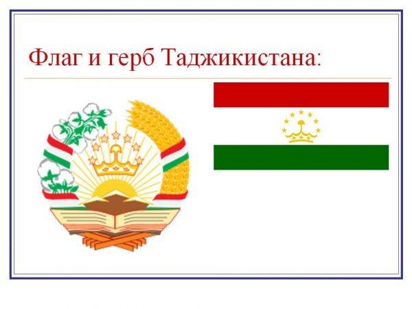 Флаг и герб Таджикистана