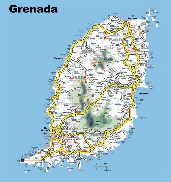 Карта Гренады для туристов
