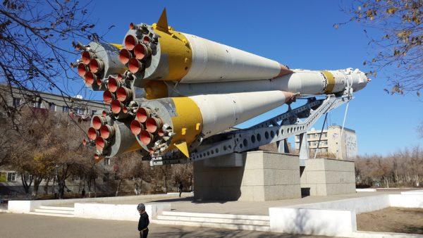 Памятник-макет ракеты «Союз»