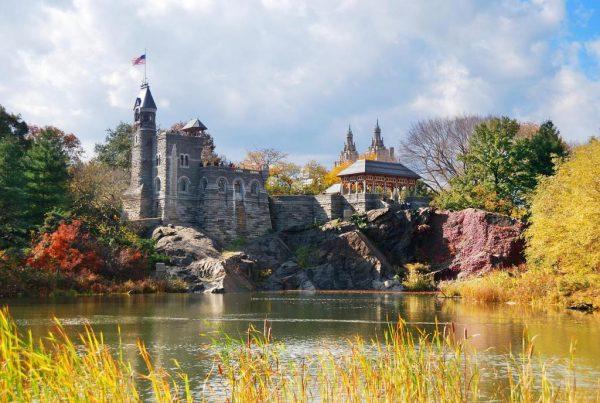 Центральный парк Нью-Йорка осенью