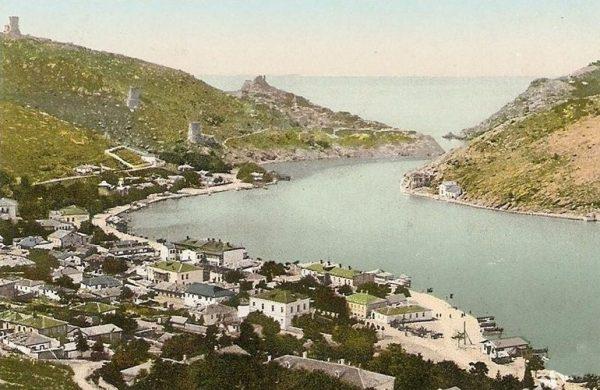 Фото XIX века с Балаклавской бухтой