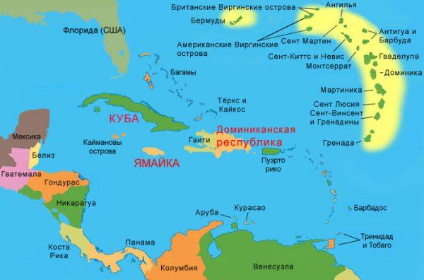 Географическое положение Доминиканы