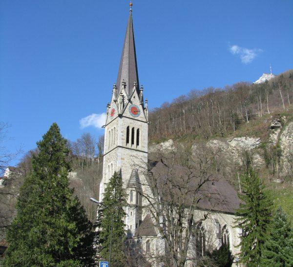 Кафедральный собор в городе Вадуц