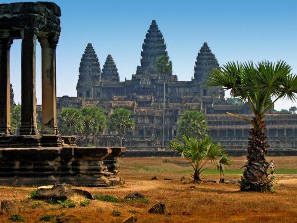Один из районов Камбоджи