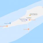 Карта атолла Лавиани на Мальдивах