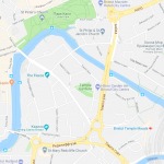 Карта центра Бристоля с достопримечательностями