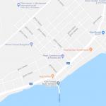 Карта центра города Кеп