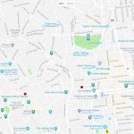 Карта центра города Туниса