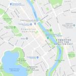 Карта центра Хэмильтона в Новой Зеландии