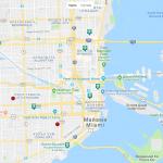 Карта центра Майами
