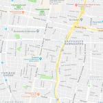 Карта центральной части города Мендоса
