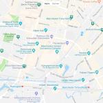 Карта центральной части Манчестера