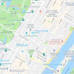 Карта центральной части Нью-Йорка