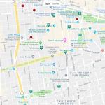 Карта центральной части Сантьяго