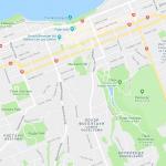 Карта части Нью-Плимута в Новой Зеландии
