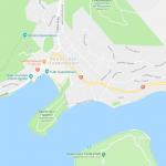 Карта прибрежной части Квинкстауна