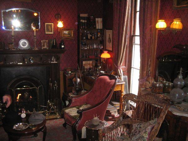 Комната в музее Шерлока Холмса