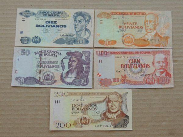 Купюры боливиано
